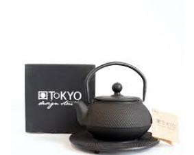 Czajnik żeliwny Kyoto 0,6 l, czarny.