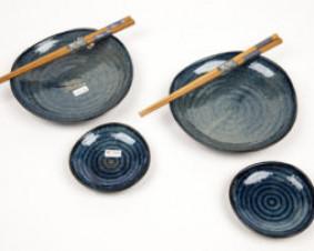 Komplet do sushi Cobalt blue mini dla 2 osób