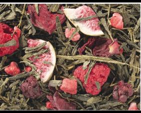 Herbata zielona Sencha z malinami i figą premium 1 kg.