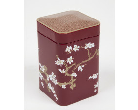 Hermetyczna puszka na herbatę Sakura czerwona 125 g