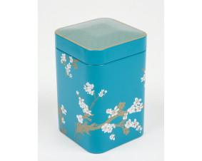 Hermetyczna puszka na herbatę Sakura niebieska 125 g