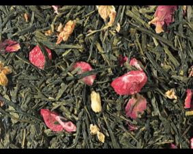 Herbata zielona Sencha z truskawką i lychee premium 1 kg.