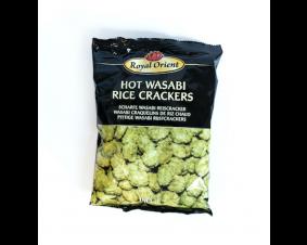 Royal Orient Hot Wasabi Rice Crackers 150 g .