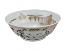 Miska do ramenu Kot różowa   21,5 x 7 cm