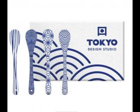 Komplet 4 łyżeczek Nippon Blue