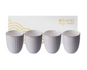 Komplet 4 czarek White Gold Tokyo Design Studio