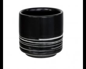 Czarka ceramiczna biało-czarna do sake Asia Deli