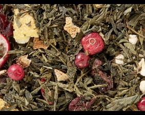 Zielona herbata sencha z żurawiną 1 kg